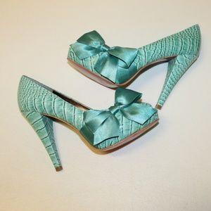 Paris Hilton Women 8.5 Heels Open Toe